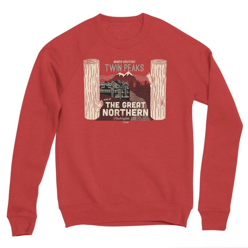 the great northern Men's Sponge Fleece Sweatshirt by Gimetzco's Damaged Goods