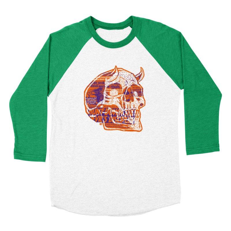 Satanic Panic Women's Baseball Triblend T-Shirt by Gimetzco's Artist Shop