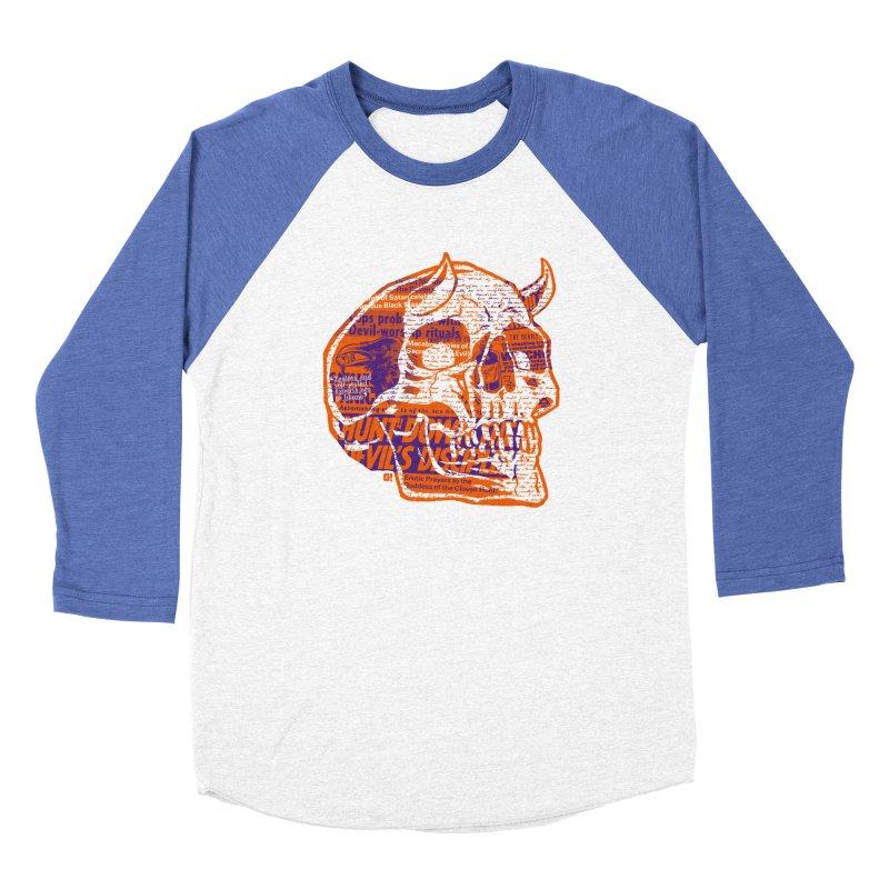 Satanic Panic Men's Baseball Triblend T-Shirt by Gimetzco's Damaged Goods