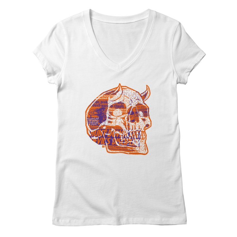 Satanic Panic Women's V-Neck by Gimetzco's Damaged Goods