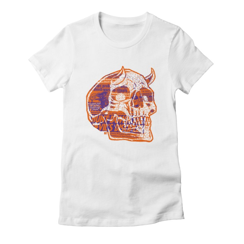Satanic Panic Women's Fitted T-Shirt by Gimetzco's Artist Shop