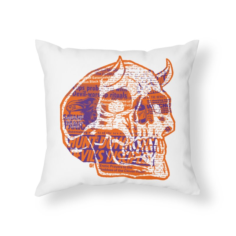 Satanic Panic Home Throw Pillow by Gimetzco's Damaged Goods