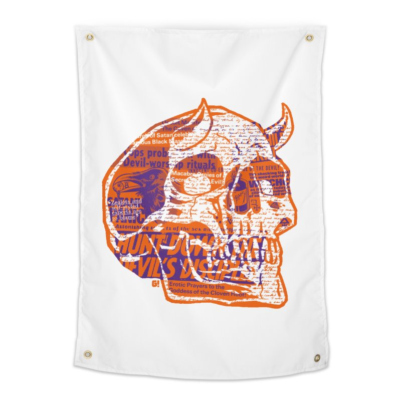 Satanic Panic Home Tapestry by Gimetzco's Damaged Goods