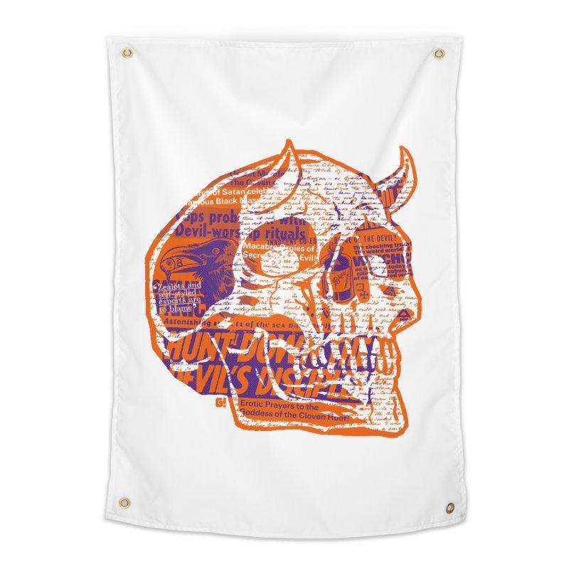 Satanic Panic Home Tapestry by Gimetzco's Damaged Goods