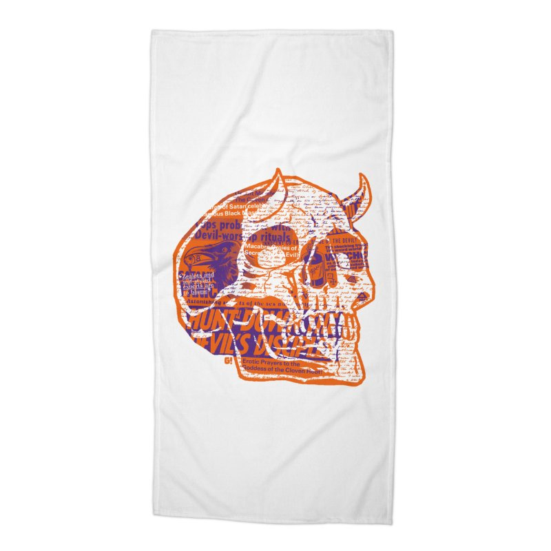Satanic Panic Accessories Beach Towel by Gimetzco's Damaged Goods