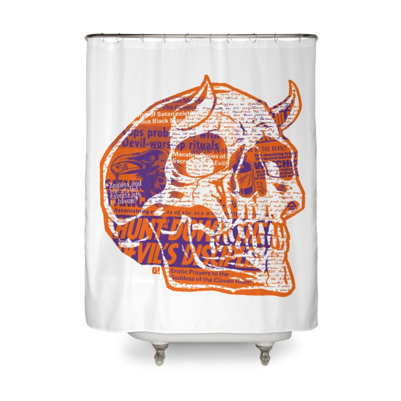Satanic Panic Home Shower Curtain by Gimetzco's Damaged Goods
