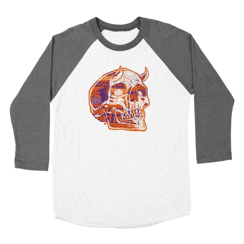 Satanic Panic Men's Baseball Triblend Longsleeve T-Shirt by Gimetzco's Damaged Goods