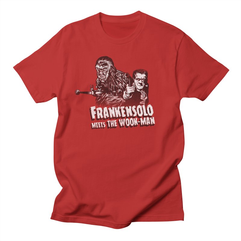 Frankensolo meets the Wook-man Men's T-shirt by Gimetzco's Artist Shop