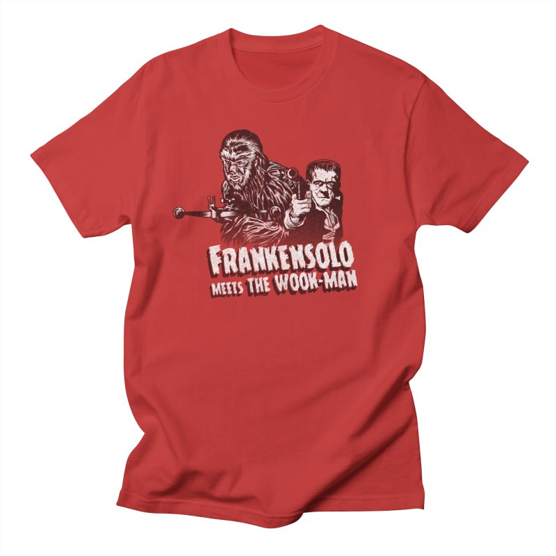 Frankensolo meets the Wook-man in Men's T-Shirt Red by Gimetzco's Artist Shop