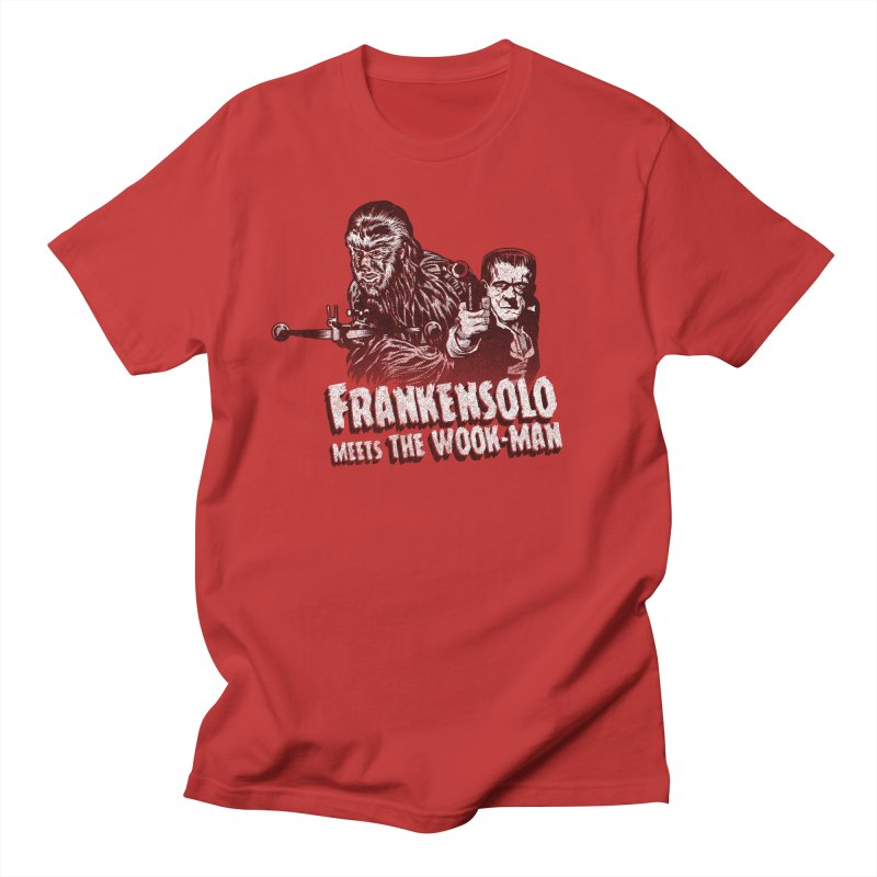 Frankensolo meets the Wook-man in Men's T-Shirt Red by Gimetzco's Damaged Goods