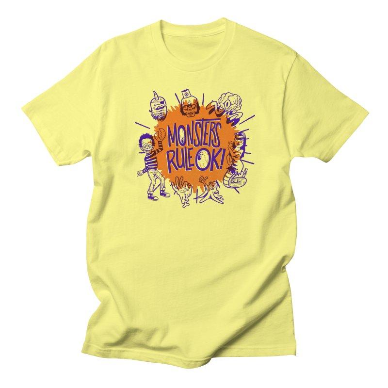 Monsters Rule! OK! Men's T-Shirt by Gimetzco's Damaged Goods