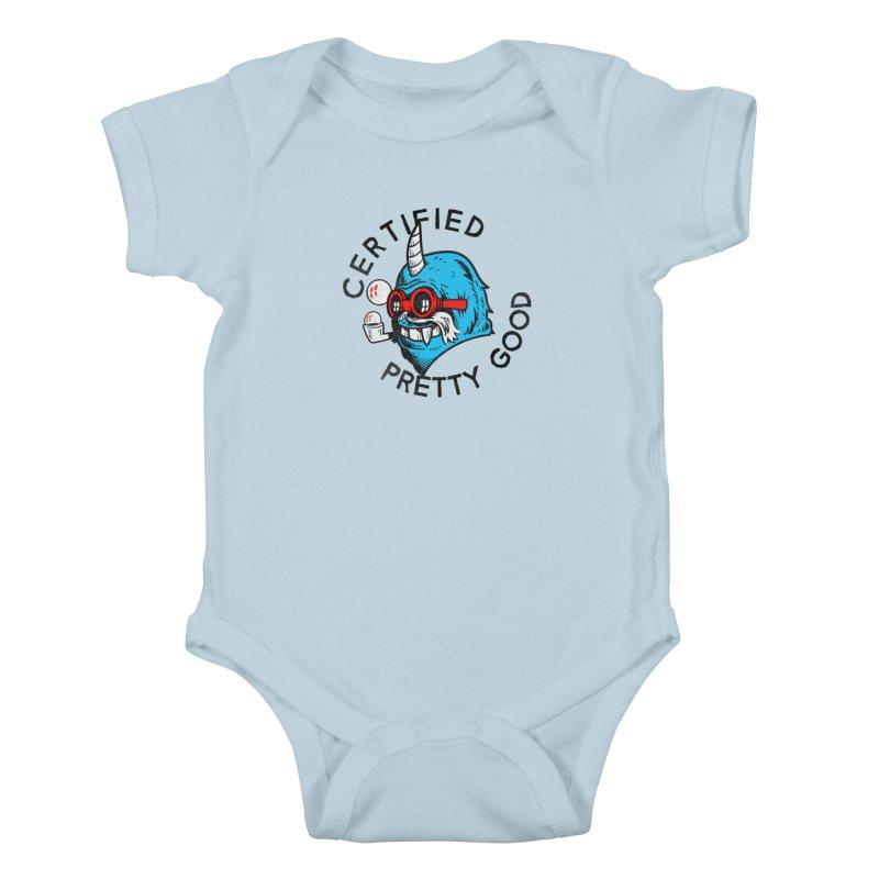 Certified Pretty Good Kids Baby Bodysuit by Gimetzco's Damaged Goods