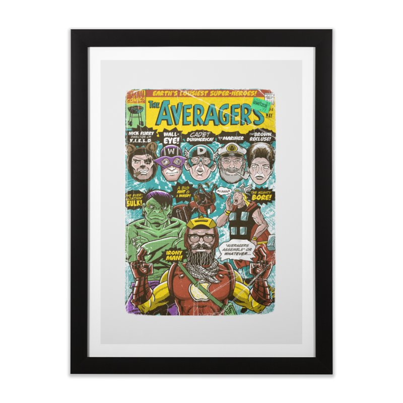 the Averagers Home Framed Fine Art Print by Gimetzco's Damaged Goods