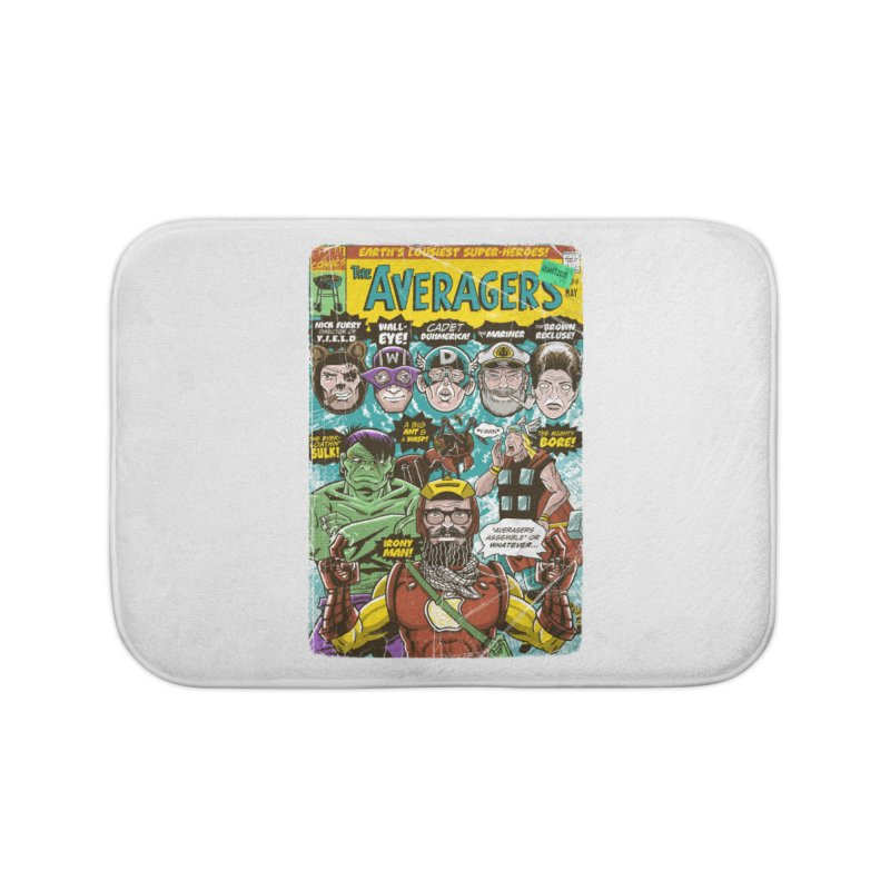 the Averagers Home Bath Mat by Gimetzco's Damaged Goods