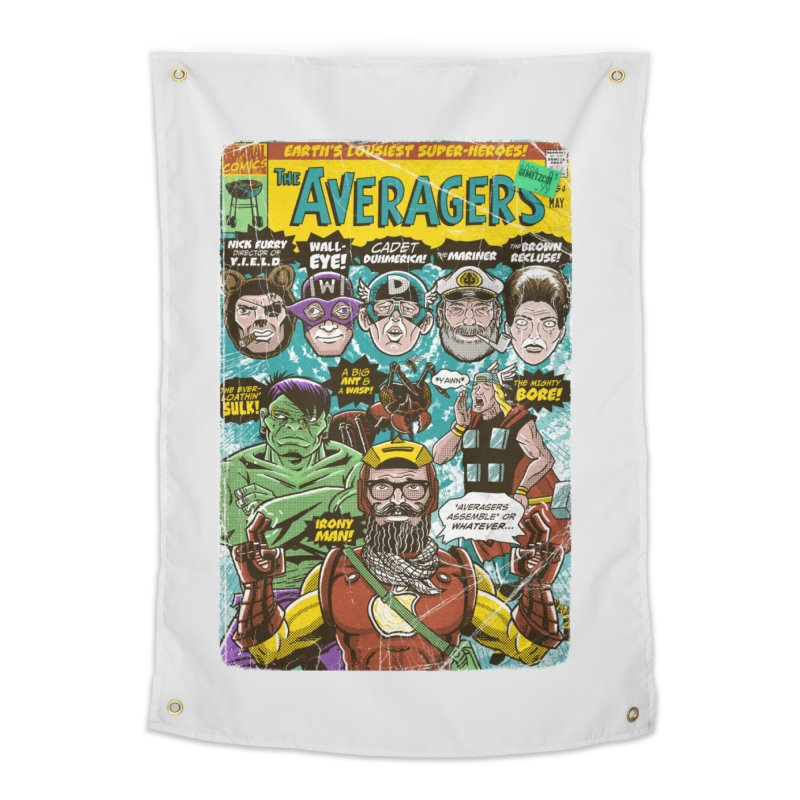 the Averagers Home Tapestry by Gimetzco's Damaged Goods