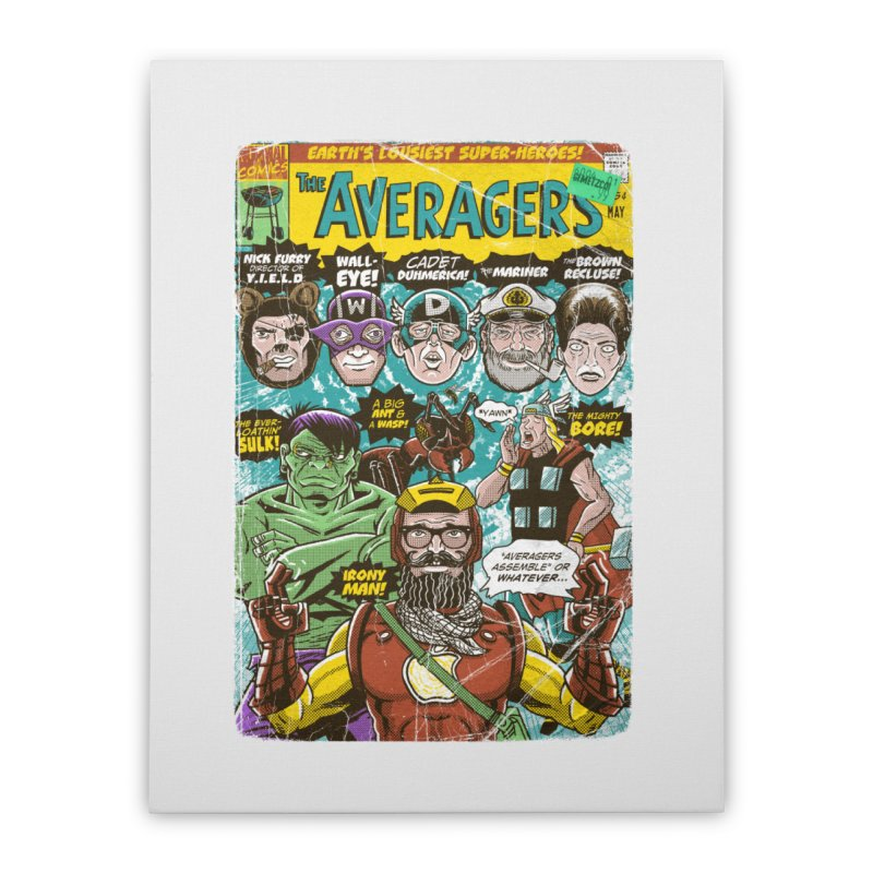 the Averagers Home Stretched Canvas by Gimetzco's Damaged Goods