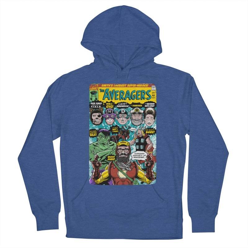 the Averagers Women's French Terry Pullover Hoody by Gimetzco's Damaged Goods