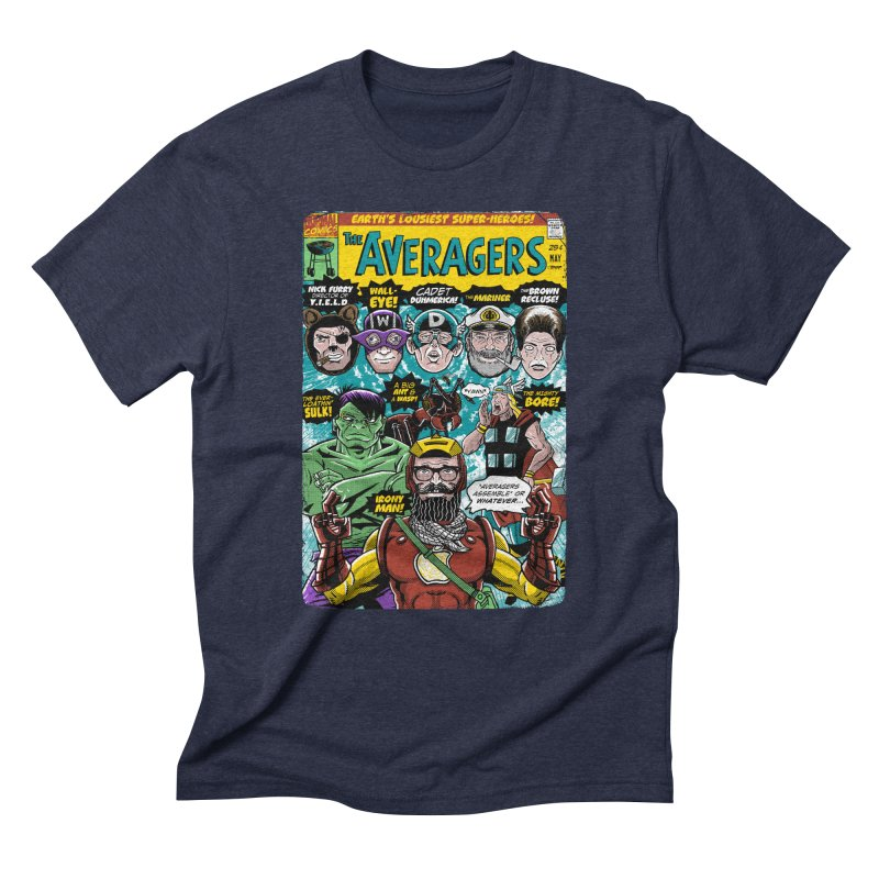 the Averagers Men's Triblend T-Shirt by Gimetzco's Damaged Goods