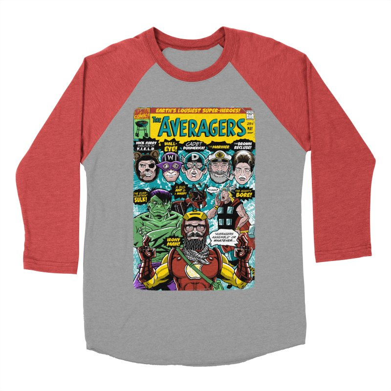 the Averagers Women's Baseball Triblend Longsleeve T-Shirt by Gimetzco's Damaged Goods