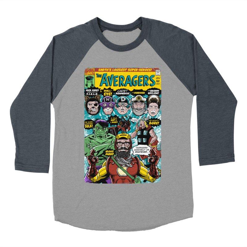 the Averagers Women's Baseball Triblend Longsleeve T-Shirt by Gimetzco's Damaged Goods