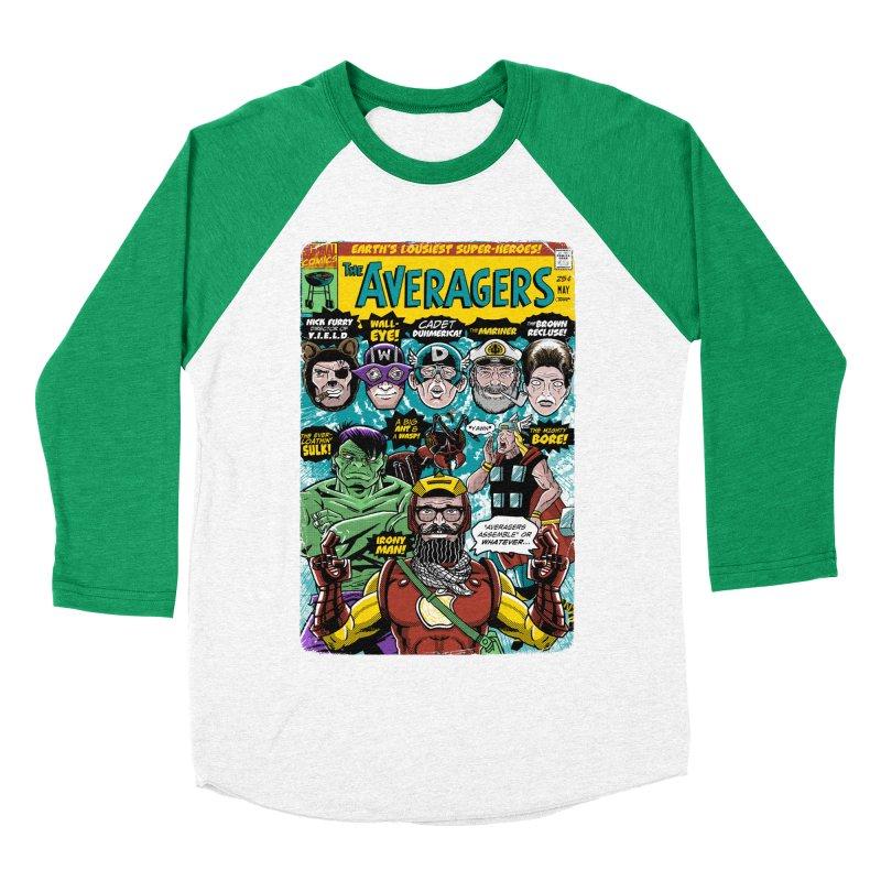 the Averagers Men's Baseball Triblend Longsleeve T-Shirt by Gimetzco's Damaged Goods