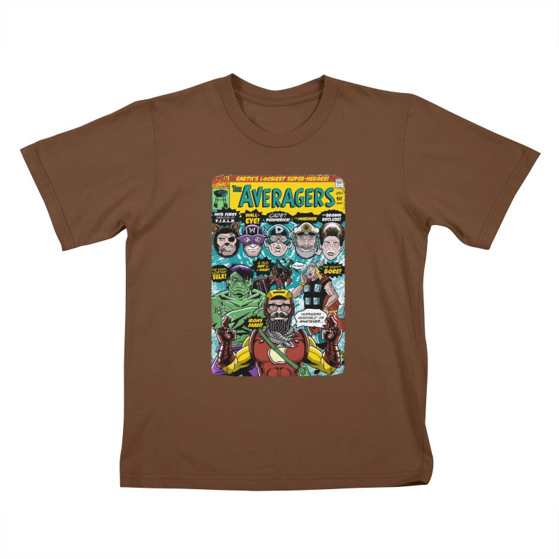 the Averagers Kids T-Shirt by Gimetzco's Damaged Goods