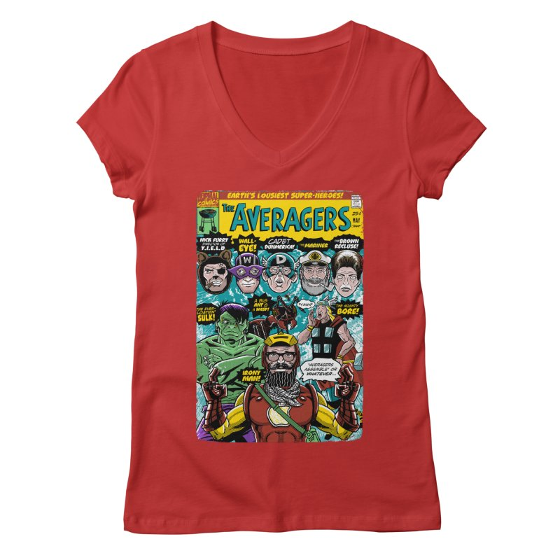 the Averagers Women's V-Neck by Gimetzco's Damaged Goods
