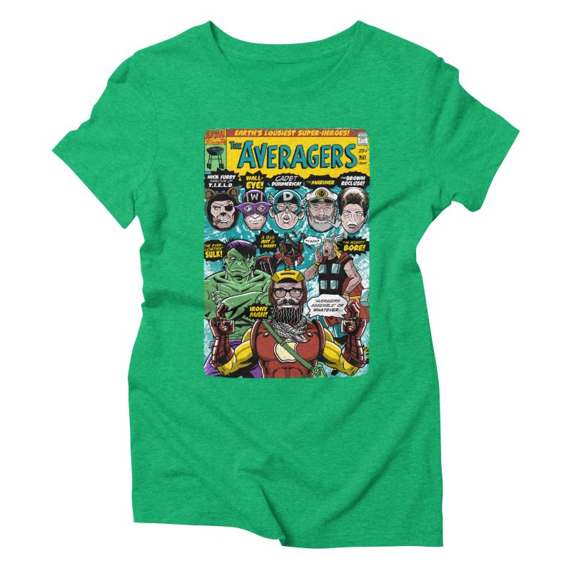 the Averagers Women's Triblend T-Shirt by Gimetzco's Damaged Goods