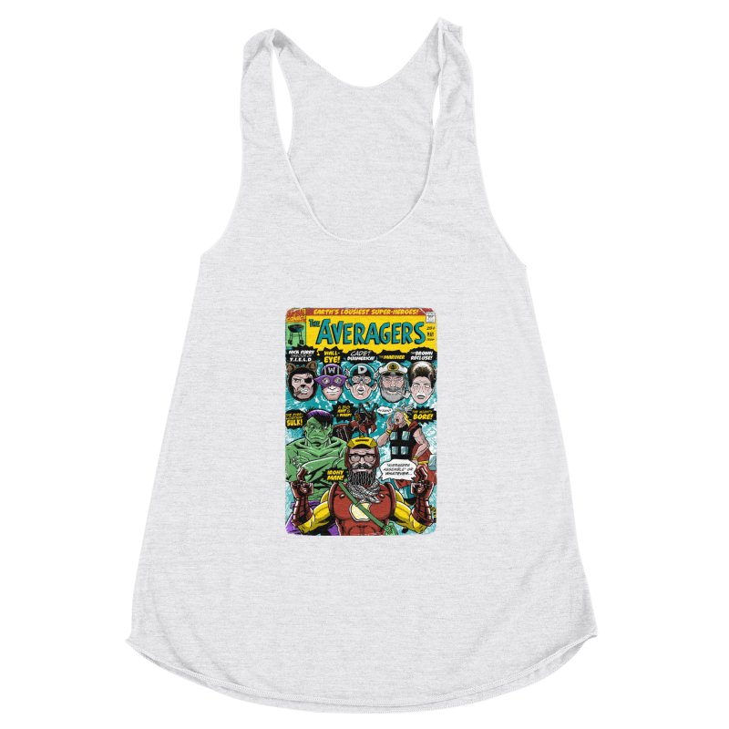 the Averagers Women's Racerback Triblend Tank by Gimetzco's Damaged Goods