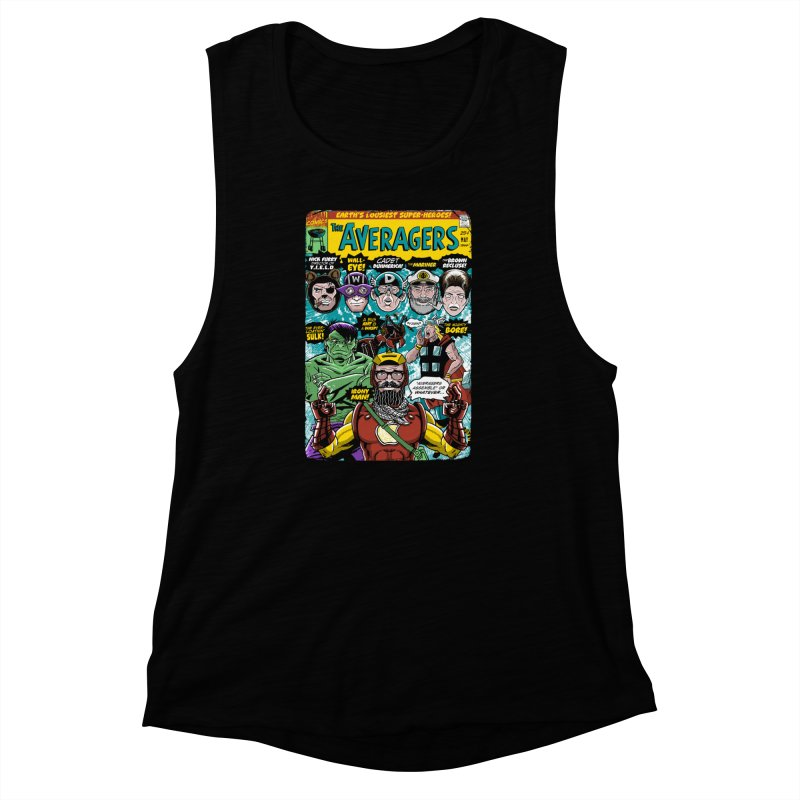 the Averagers Women's Muscle Tank by Gimetzco's Damaged Goods