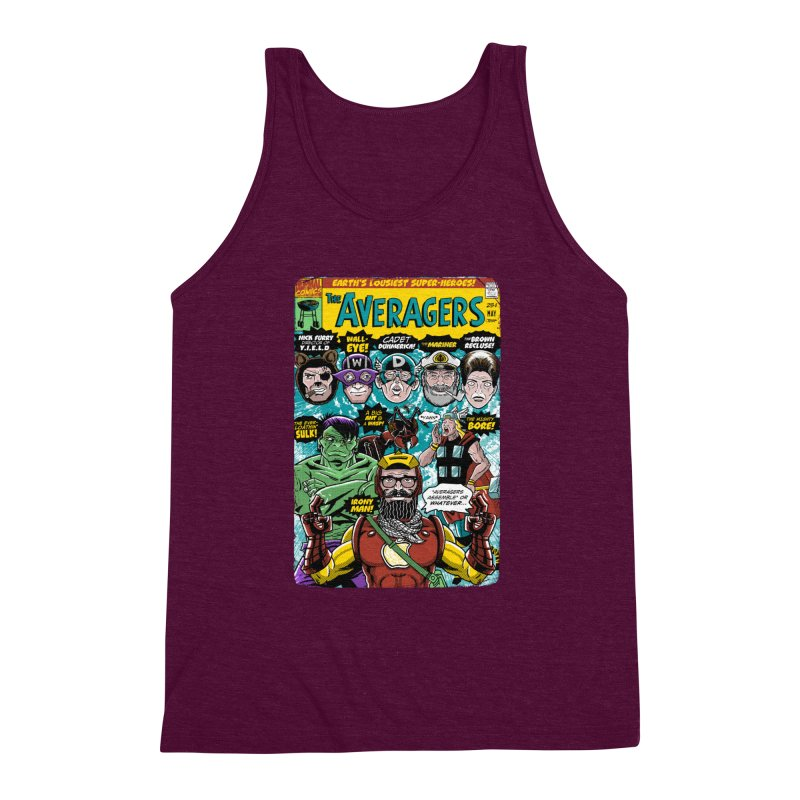 the Averagers Men's Triblend Tank by Gimetzco's Damaged Goods