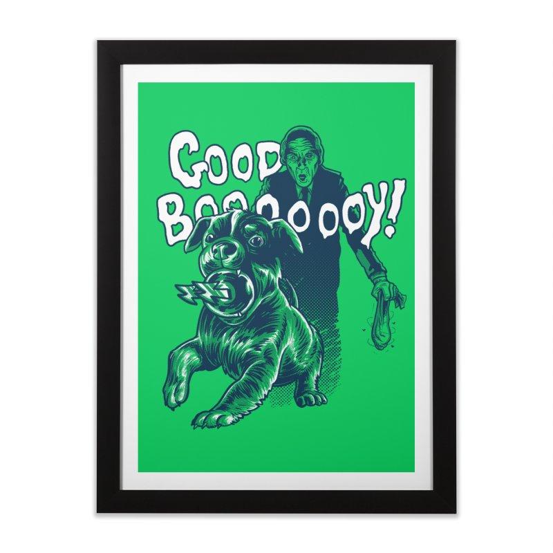 Good Boy (green)! Home Framed Fine Art Print by Gimetzco's Damaged Goods