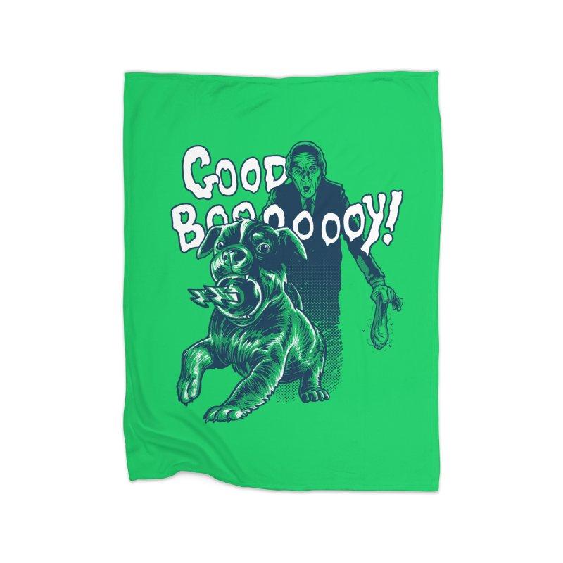Good Boy (green)! Home Blanket by Gimetzco's Damaged Goods