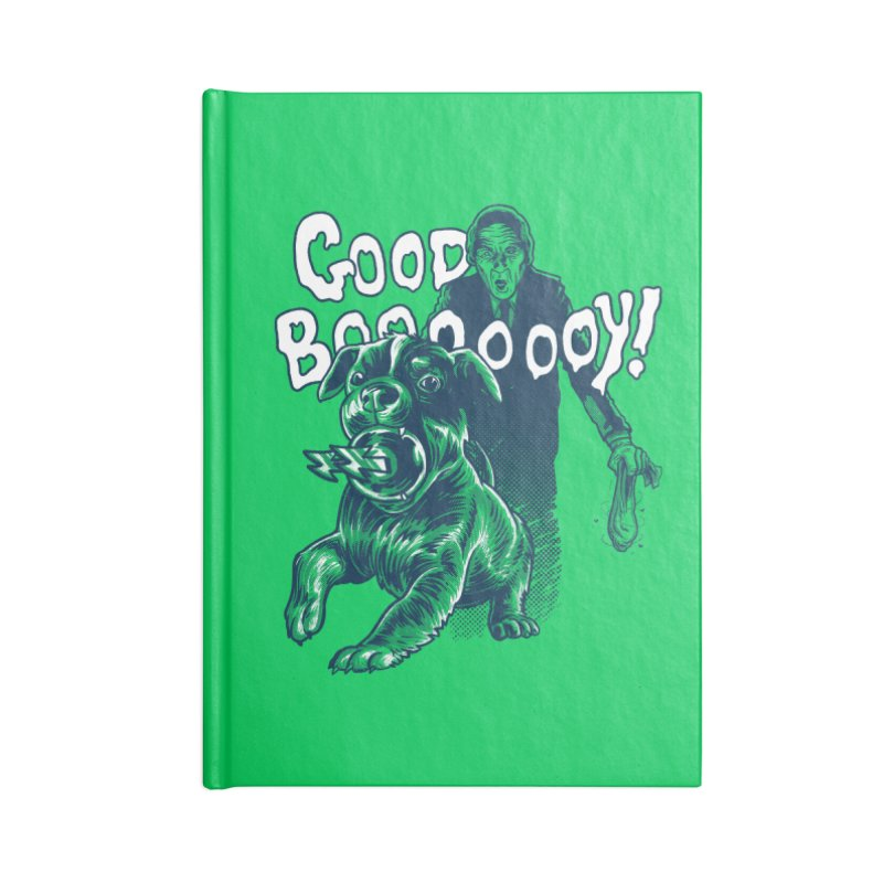 Good Boy (green)! Accessories Notebook by Gimetzco's Damaged Goods