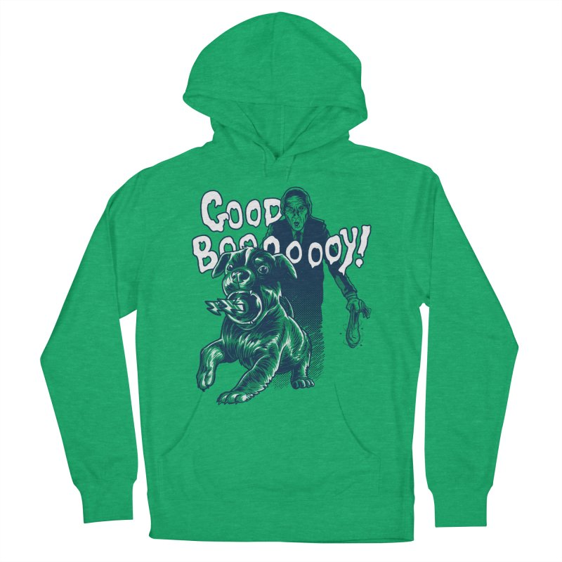 Good Boy (green)! Men's Pullover Hoody by Gimetzco's Damaged Goods