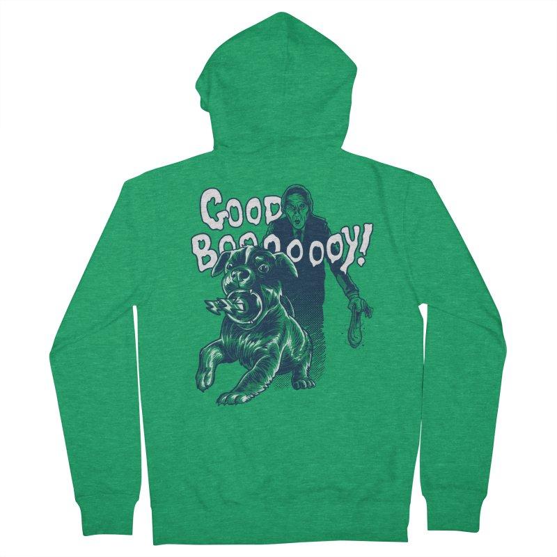 Good Boy (green)! Men's Zip-Up Hoody by Gimetzco's Damaged Goods