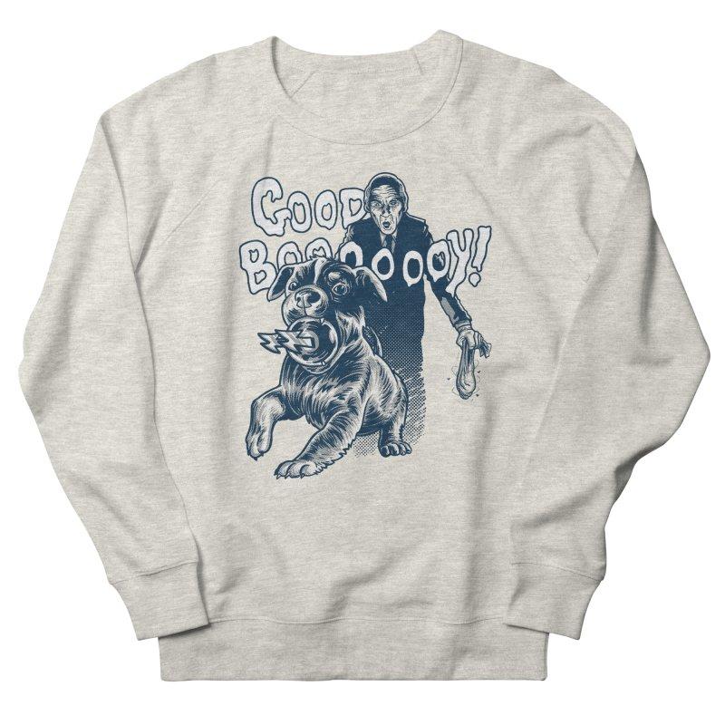 Good Boy (green)! Women's French Terry Sweatshirt by Gimetzco's Damaged Goods