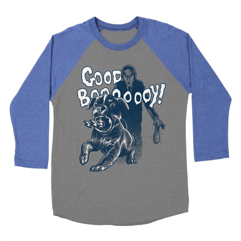 Good Boy (green)! Women's Baseball Triblend Longsleeve T-Shirt by Gimetzco's Damaged Goods