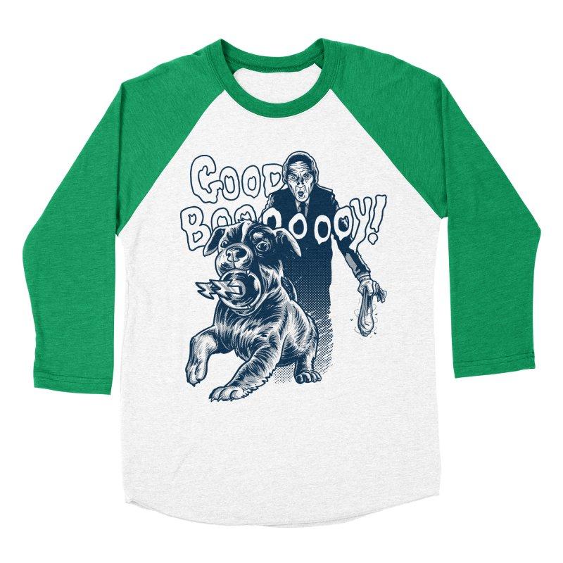 Good Boy (green)! Men's Baseball Triblend T-Shirt by Gimetzco's Damaged Goods
