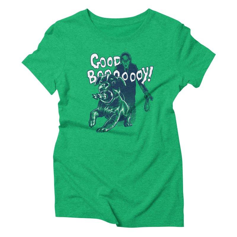 Good Boy (green)! Women's Triblend T-Shirt by Gimetzco's Damaged Goods