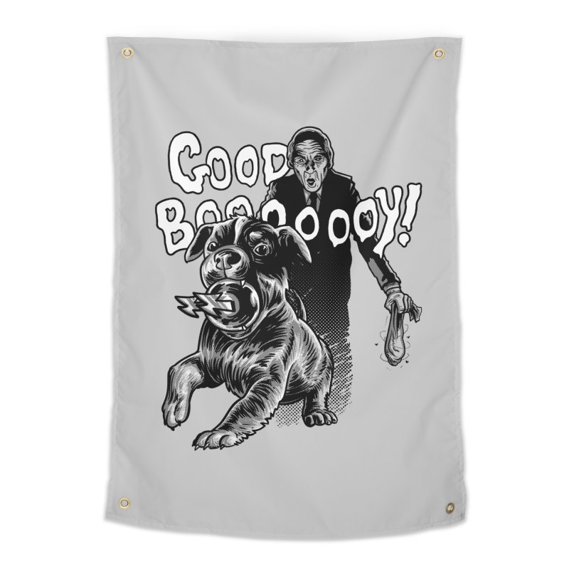 Good boy! Home Tapestry by Gimetzco's Damaged Goods