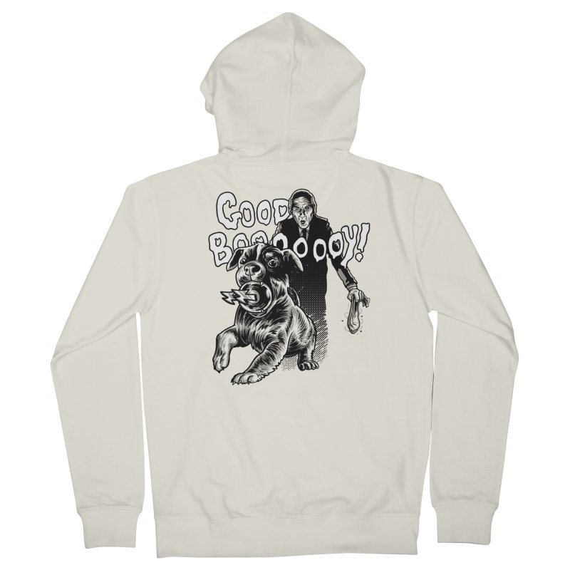 Good boy! Men's French Terry Zip-Up Hoody by Gimetzco's Damaged Goods