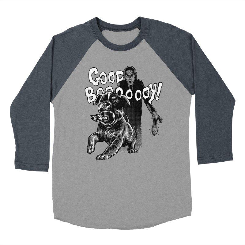 Good boy! Men's Baseball Triblend Longsleeve T-Shirt by Gimetzco's Damaged Goods