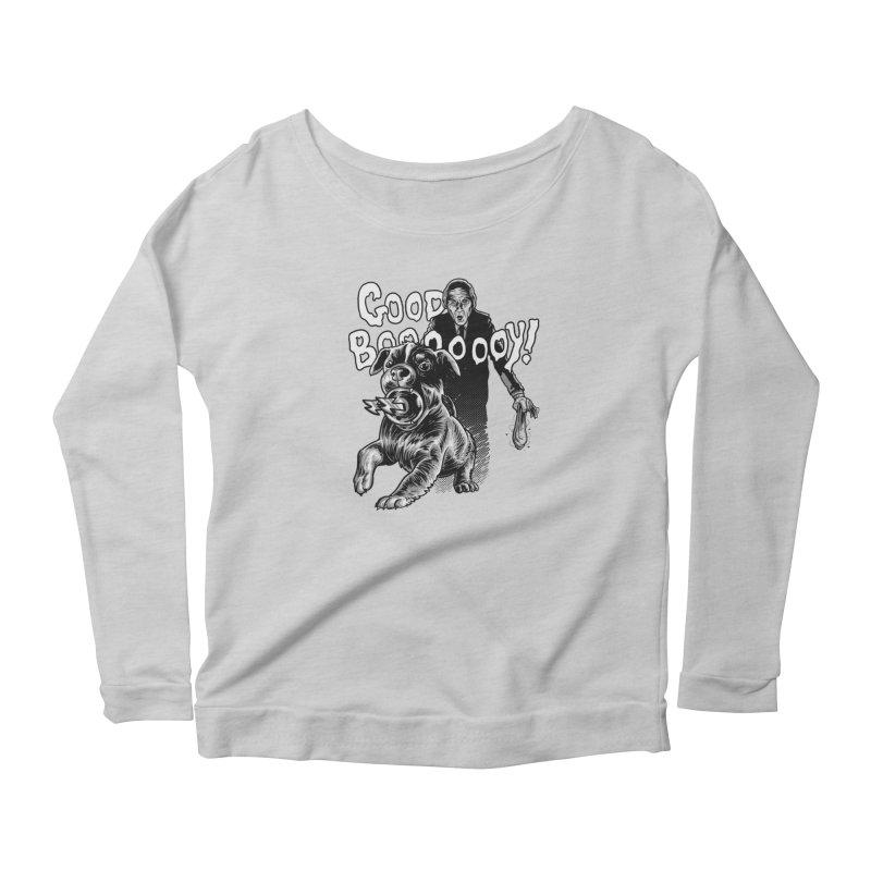 Good boy! Women's Scoop Neck Longsleeve T-Shirt by Gimetzco's Damaged Goods