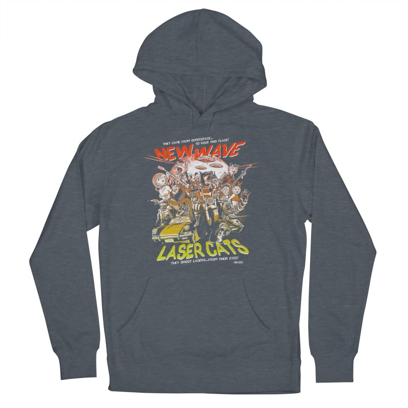 New wave laser cats Men's Pullover Hoody by Gimetzco's Damaged Goods