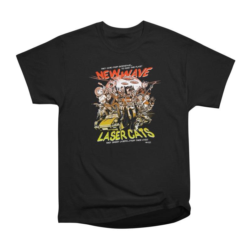 New wave laser cats Men's Heavyweight T-Shirt by Gimetzco's Damaged Goods