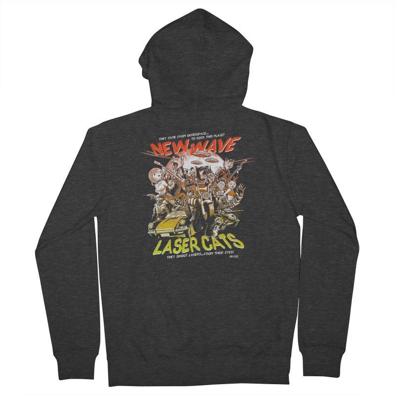 New wave laser cats Men's French Terry Zip-Up Hoody by Gimetzco's Damaged Goods