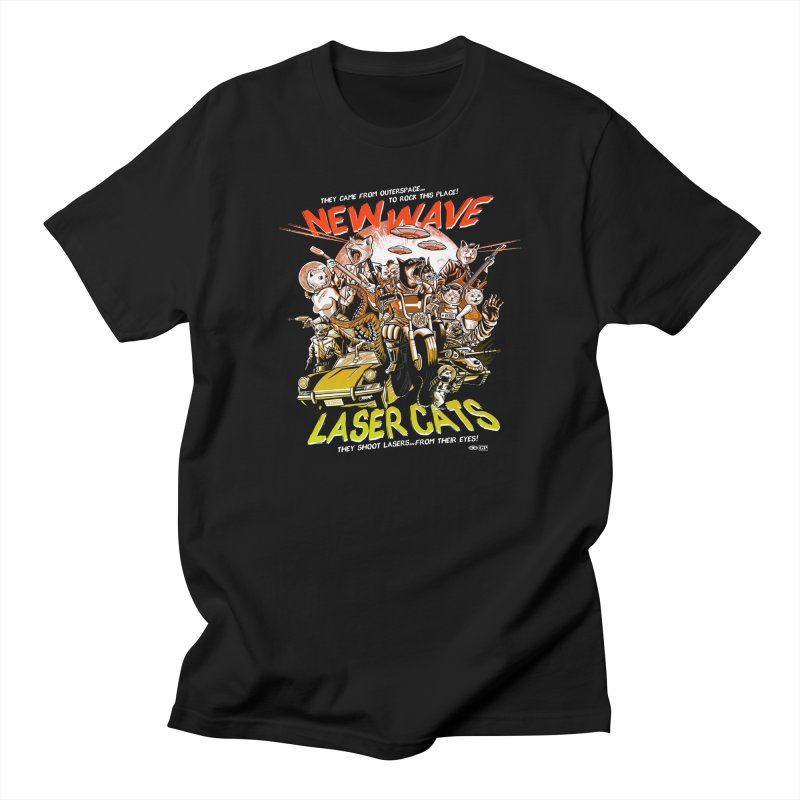 New wave laser cats Men's Regular T-Shirt by Gimetzco's Damaged Goods