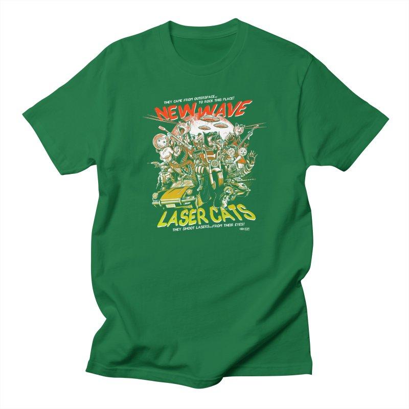 New wave laser cats Women's Regular Unisex T-Shirt by Gimetzco's Damaged Goods