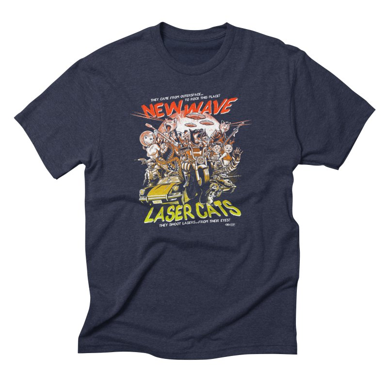 New wave laser cats Men's Triblend T-Shirt by Gimetzco's Damaged Goods